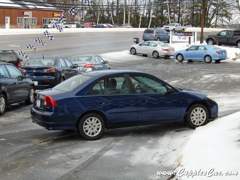 used 2004 honda civic lx automatic sedan under 5000 for sale in laconia nh cupples cars. Black Bedroom Furniture Sets. Home Design Ideas
